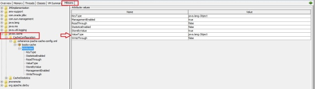 JCache Configuration stats